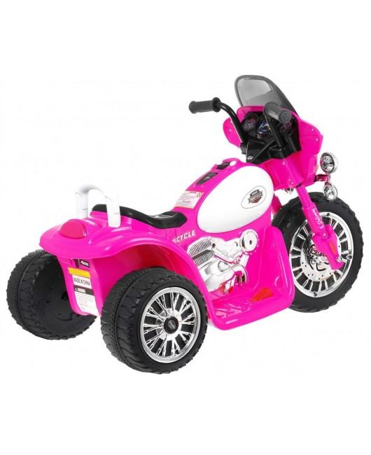 Elektrická policajná motorka Chopper ružová